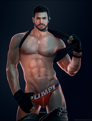 Another Chris Redfield Jockstrap Render by DaemonCollection