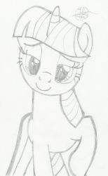 Twilight Sparkle: Heartwarming - Re-drawn by hand by JustBronyM