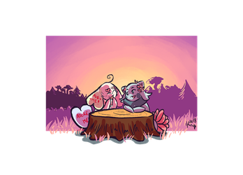 A Table for Two 3 by Kirsui