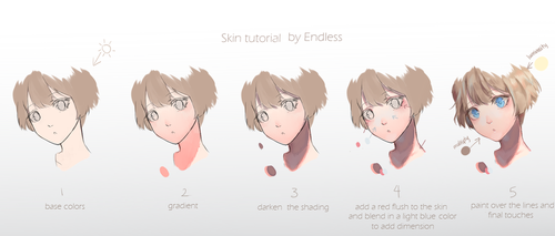 Skin Tutorial (for the face) by EndlessRz