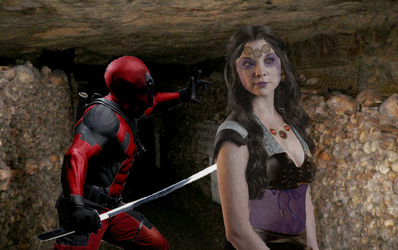 DEADPOOL AND SHIKLAH (LIVE ACTION FAN MADE) by Darth-Slayer