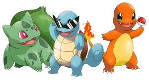 POKEMON starter pokemon GEN1 by Fomle-chan