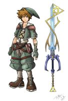 Sora in Hyrule by TheDeviantArchitect