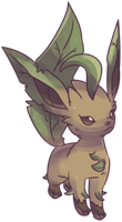 Hanako's Leafeon Commission by AutobotTesla