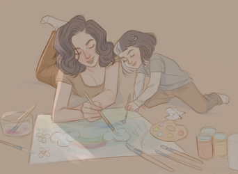Making art together by UrsulaDecay