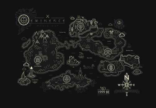 Eminence World Map by shoelesspeacock