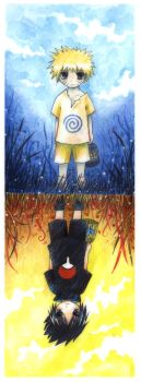 Naruto and Sasuke by Radittz