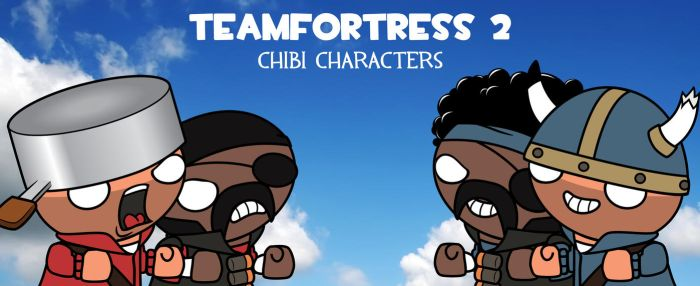 TF2 Chibi Soldier + Demoman by XxXFaNtA