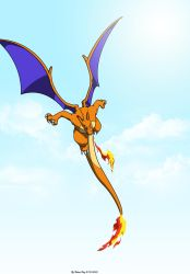 Charizard in flight by captaincabbage