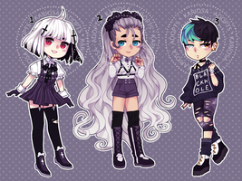 Sketchy Goth Auction (closed) by Kariosa-Adopts