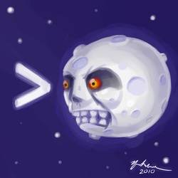 implying the moon by TurnThePhage