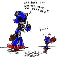 Metal Sonic's Son 2 by Jolleboi