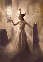 The Goddess Isis - Iset by Erebus-art