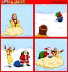 Santa and Wukong COMIC by whiteguardian