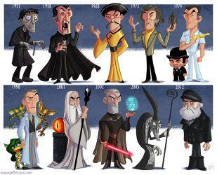The Evolution of Christopher Lee by JeffVictor