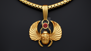 22k Golden Pendant Scarab by M-O-Z-G