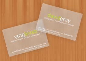Transparent card mockup by Grayda