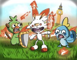 Scorchedbunny n Friends - Pokemon Sword and Shield by raveka