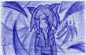 Index Card Doodles - no.7ANGRY by Deathkiller