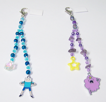 Adventure Time Beaded Fobs by jordannamorgan