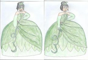 Buttercup as Tiana (Show's Style, My Style, V2) by TrainsAndCartoons