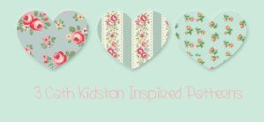 3 Cath Kidston Inspired Patterns (PS) by Essierose