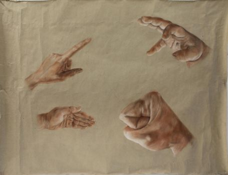 study of hands by Rac8n