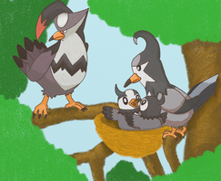Starly Pokefamily