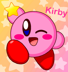 Kirby Wink Cute!! (Remake) by cuddlesnam