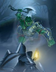 Orc Knight Vs Soldier1 by strngbroda