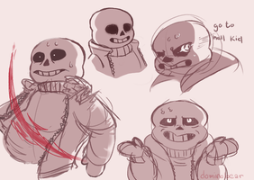 Sans having a bad time by DominoBear
