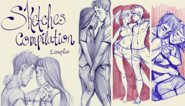 sketches compilation 1: couples (pdf sketchbook) by Ni-nig