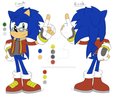 Character Reference - Sonic Maurice Sterling by HedgeCatDragonix