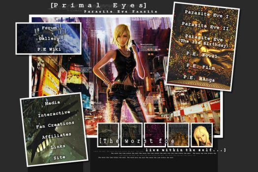 Parasite Eve Fansite: Layout I by caligos-eve