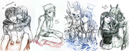 Sketchy drawings 3 by christon-clivef