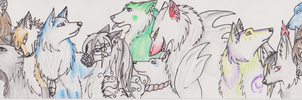 Bookmark of doggies by MagicallyCapricious