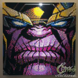 Classic Thanos in LEGO Bricks by chadrossartwork