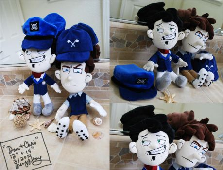 Dan and Chris  Plushie Commission Version2 by sewcuteplushies