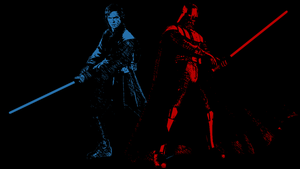 Anakin Skywalker and Darth Vader by Gabrielx86