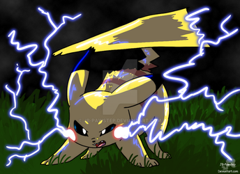 Pikachu - Art 1 by JB-Pawstep