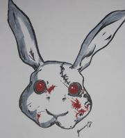 Rabbit Doubt Mask by Tears-Made-Of-Ashes