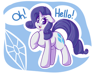 Rarity Hello by GrapheneDraws