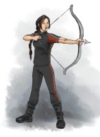 Katniss in Training by siquia
