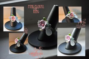 Pink Floral Ring by tanyquil