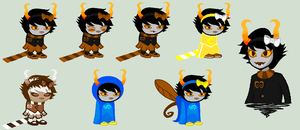 Fantroll Sprites for piepiepinkype by SavannaEGoth