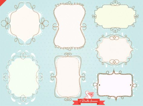 Doodle sketch frames pack by PicturesOfPelicans