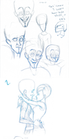 Megamind Sketches 2 by Gingerscoffee