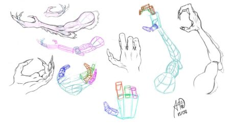 Dragon hands concept by Architect-of-Dreams