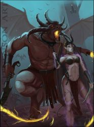 Balor and Succubus by ColbyStevenson