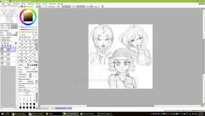 Audi: the BearFamily Gals -sketch Preview- by mscherbear
